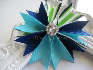 Tahitian Butterfly Spiked Bow