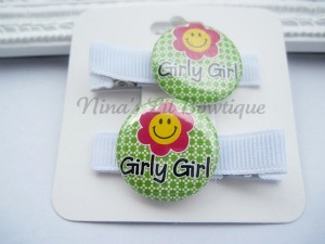 Lime Girly Girl Clippie Set