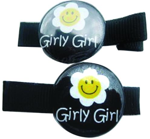 Black Girly Girly Clippie Set