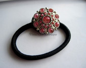 Pink Rhinestone Ponytail Holder