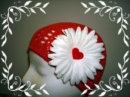 Red Beanie with Flower 2