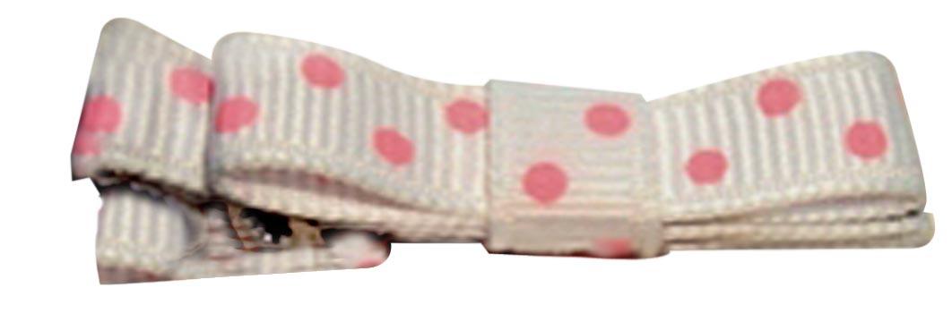 Pink Swiss Dot Clippie