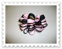 Pink/Black Loopy Bow