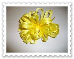 Yellow Loopy Bow