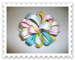 Pastel Multi Loopy Bow