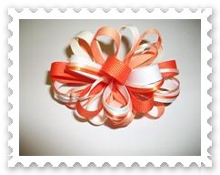 Orange Cream Sherbet Loopy Bow
