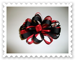 Red/Black Loopy Bow
