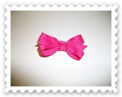 Hot Pink Itty Bitty Bow