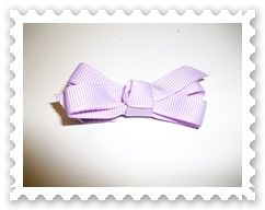 Lavender Itty Bitty Bow