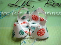 Twisted Peppermint Bow